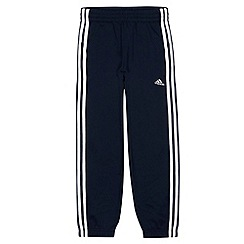 adidas - Designer boy's navy striped joggers