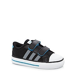 adidas - Babies black three stripe canvas trainers