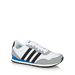 adidas - Boy's white 'RunNeo' three stripe trainers