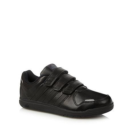 adidas - Boy+s black rip tape trainers