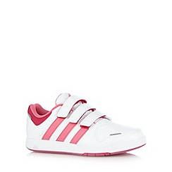 adidas - Girl's white 'LK Trainers 6 CF' trainers