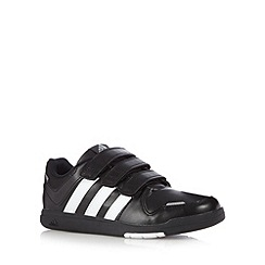 adidas - Boy's black 'LK Trainer 6 CF K' three tab trainers