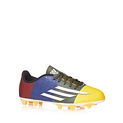 adidas - Boy's orange 'F5' firm ground football boots