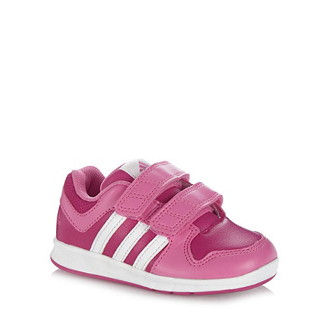 adidas - Girl+s pink +LK+ trainers