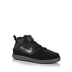 Nike - Girl's black 'Priority' mid leather trainers