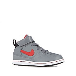 Nike - Boy's grey leather 'Priority' mid cuff trainers