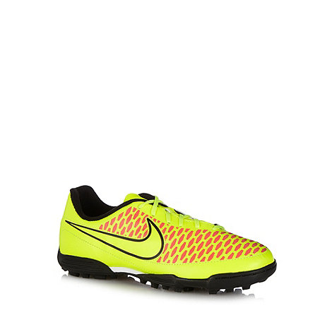 Nike - Green +Magista+ astroturf football boots