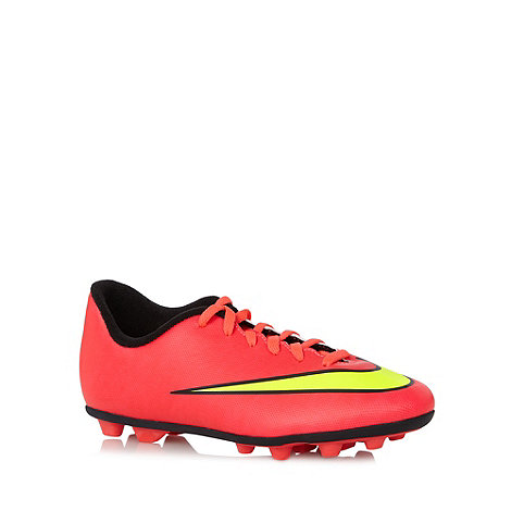 Nike - Light pink +Mercurial+ firm ground football boots
