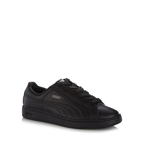 Puma - Black +Smash Jr+ leather trainers