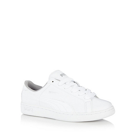 Puma - Boy+s white +Smash+ trainers