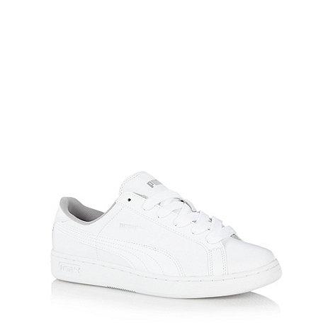 Puma - Boy+s white +Smash+ trainers