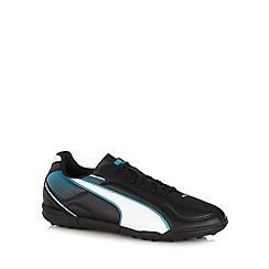 Puma - Black 'Esquadra Jr' astroturf football boots