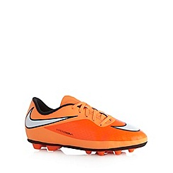 Nike - Boy's orange 'Hypervenom Phade' pirate trainers