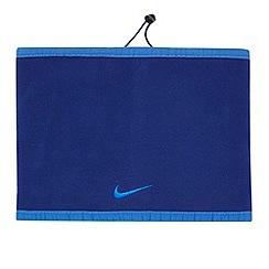 Nike - Blue reversible fleece neck warmer