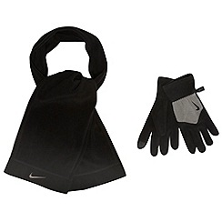 Nike - Black 'Fleece Tech' gloves and scarf set
