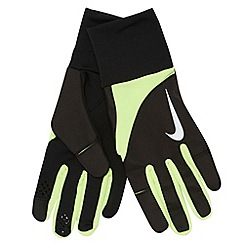Nike - Bright yellow 'Tailwind' running gloves