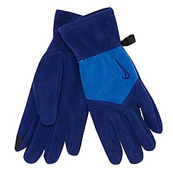 Nike - Blue 'Fleece Tech' gloves