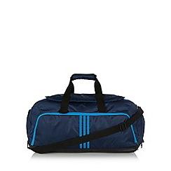 adidas - Blue three stripe medium duffle bag