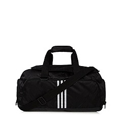 adidas - Black three stripe small duffle bag
