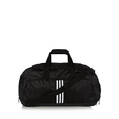 adidas - Black three stripe medium duffle bag
