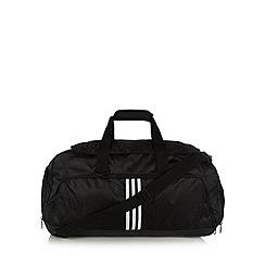 adidas - Black three stripe medium duffle bag