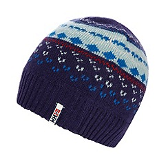 Helly Hansen - Purple fairisle knitted beanie