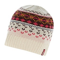 Helly Hansen - Cream fairisle knitted beanie
