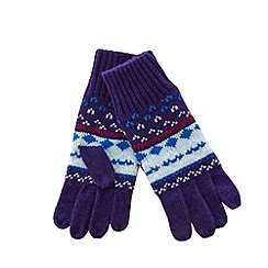 Helly Hansen - Purple fairisle knit gloves
