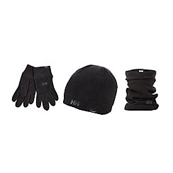 Helly Hansen - Black 'Polartec' fleece neck warmer and gloves set