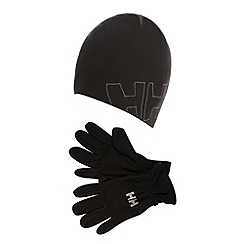 Helly Hansen - Black beanie hat and gloves