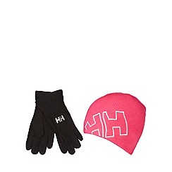 Helly Hansen - Black fleece gloves and beanie hat set