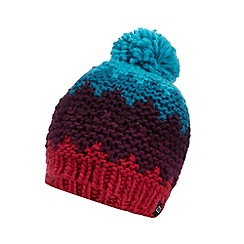 Berghaus - Pink chunky knit panelled beanie hat