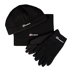 Berghaus - Black fleece hat, scarf and gloves set