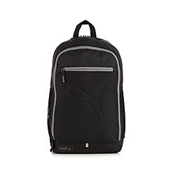 Puma - Black logo embossed backpack