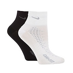 Nike - Pack of two black and white anti-blister running socks