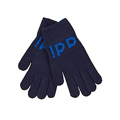 adidas - Navy logo gloves