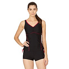 Speedo - Black/Red Essential Crystalrain tankini set