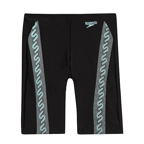 Speedo - Black/Blue Monogram Jammer Shorts