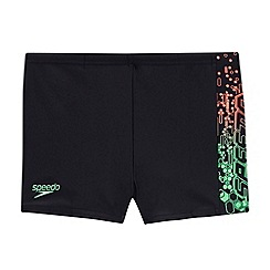 Speedo - Navy/Green Logo Panel Aquashorts