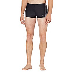 adidas - Black striped swim trunks