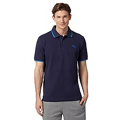 Puma - Navy pique regular fit polo shirt