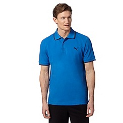 Puma - Blue pique regular fit polo shirt