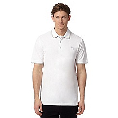 Puma - White pique regular fit polo shirt