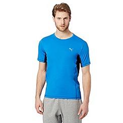 Puma - Blue 'Active' mesh insert t-shirt