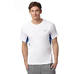 Puma - White mesh insert sports t-shirt