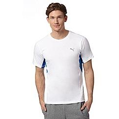Puma - White mesh insert sports t-shirt