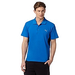Puma - Blue 'Cleansport' UV protection polo shirt