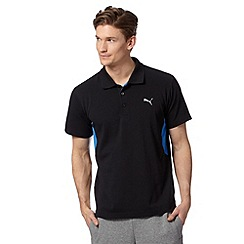 Puma - Black 'Cleansport' UV protection polo shirt