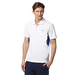 Puma - White 'Cleansport' UV protection polo shirt