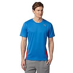 Puma - Blue 'Climate Control' running t-shirt